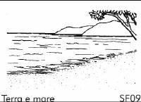 Terra e mare - Sfondo su flanella
