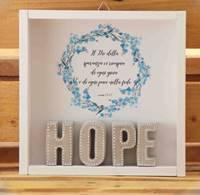 Cubotto Hope grigio/fiori