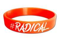 Braccialetto in silicone #Radical Arancione