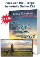 Pacchetto regalo Pace con Dio + Targa in metallo Salmo 23:1