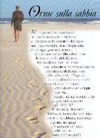 Orme sulla sabbia - Poster