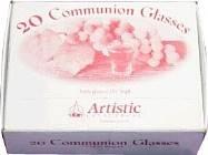 Confezione da 20 Bicchierini in vetro per la Santa cena (Scatola)