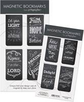 Set di 4 segnalibri magnetici Chalkboard Messages