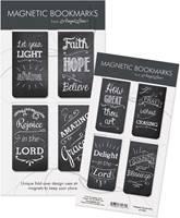Set di 4 segnalibri magnetici Chalkboard Messages