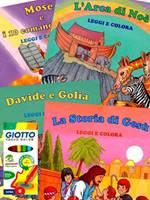Eroi della Bibbia Leggi e Colora 4 Libri + 12 Pennarelli (Brossura)
