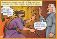Il cieco Bartimeo - Storia a poster da colorare