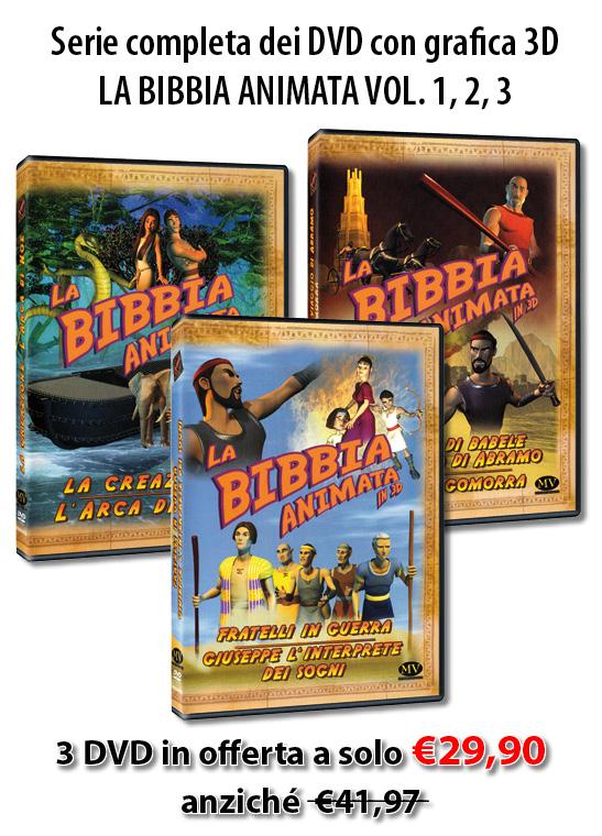 """Offerta Serie completa """"La Bibbia animata in 3D"""""""