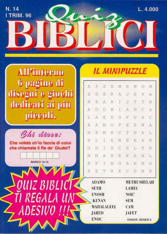 Quiz Biblici vol 14 - Adesivo omaggio all'interno