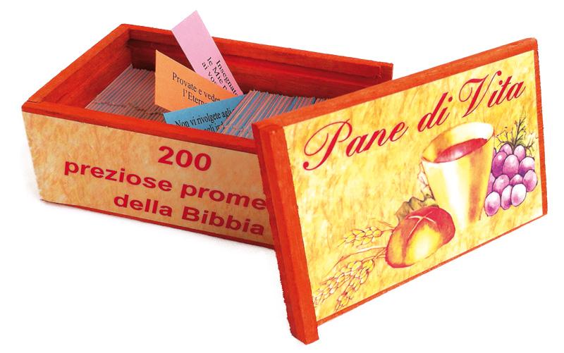 Pane di vita con scatola di legno