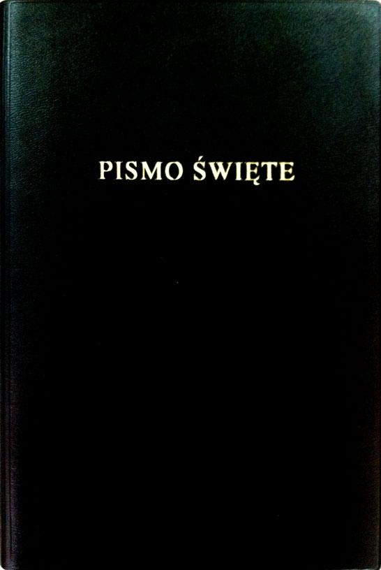 Bibbia in Polacco media similpelle nera