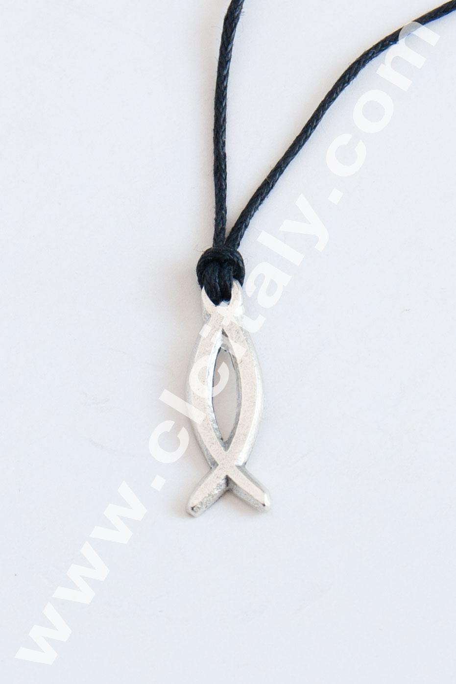 Collana Pesce Argentato (Art. 103)
