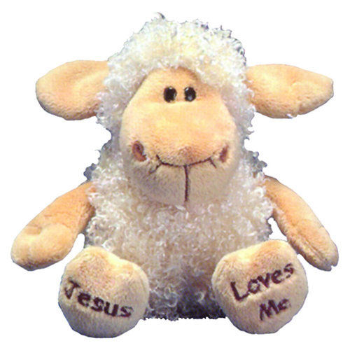 "Peluche Agnello Morbidissimo ""Jesus loves me"""