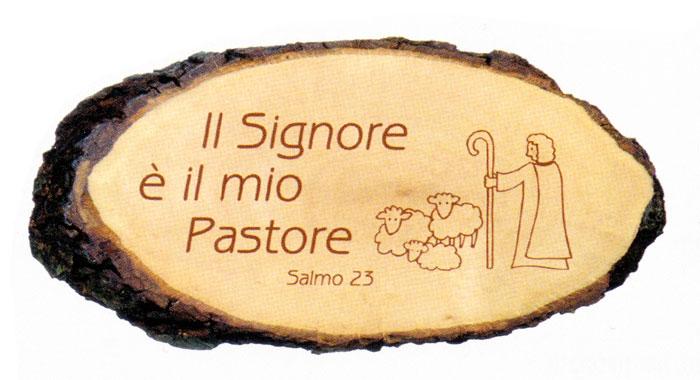 """A2D - Ritaglio in legno """"Il Signore è il mio pastore"""""""