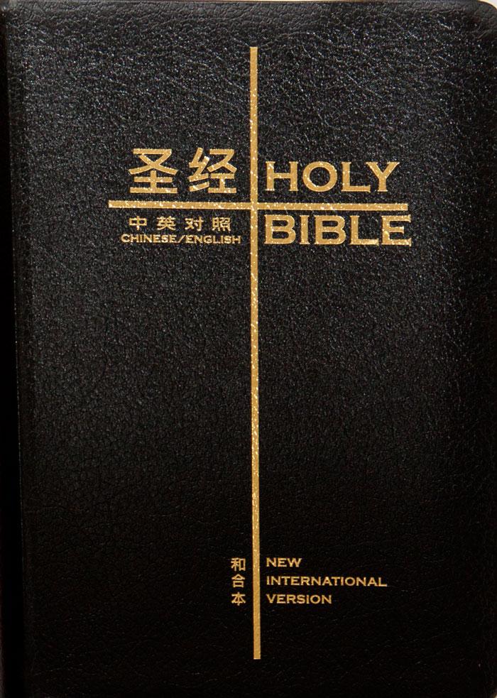Bibbia Bilingue Cinese Inglese in Pelle