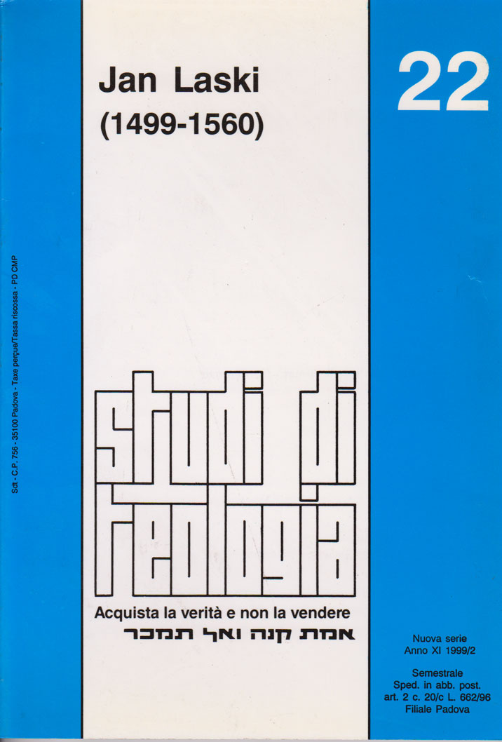 Jan Laski (1499 - 1560) (Studi di Teologia - n° 22)