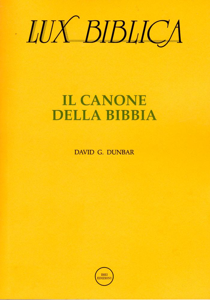 Il canone della Bibbia Lux Biblica - n° 3