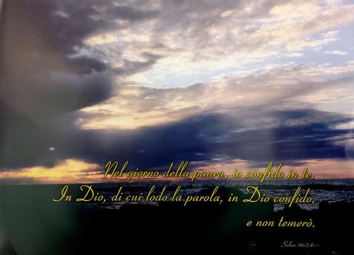 """Poster """"Nel giorno della paura io confido in Te"""" - Salmo 56:3-4"""