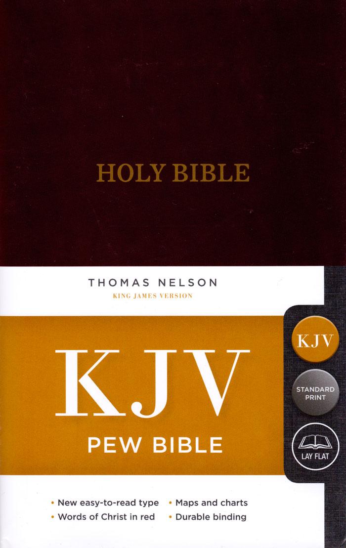 KJV Pew Bible Burgundy