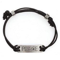 """Braccialetto regolabile """"Peace"""""""