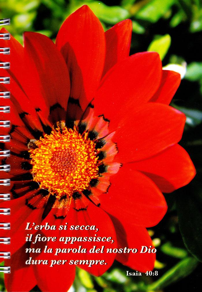 """Block notes per appunti """"L'erba si secca, il fiore appassisce, ma la parola del nostro Dio dura per sempre"""" - Isaia 40:8"""