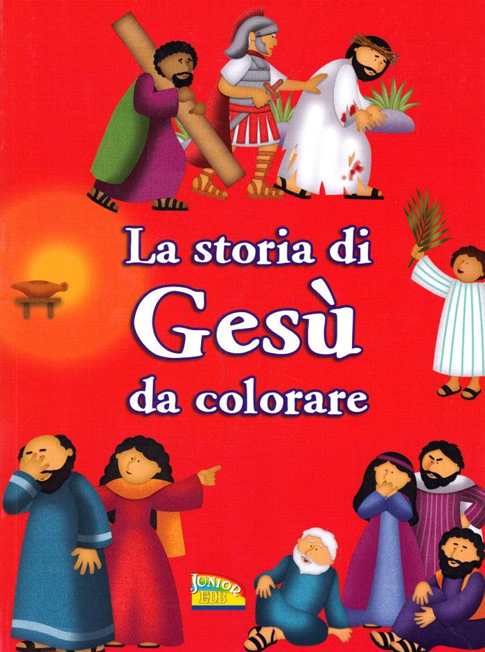 La storia di Gesù da colorare