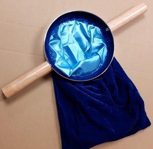 Sacchetto per le offerte in velluto blu