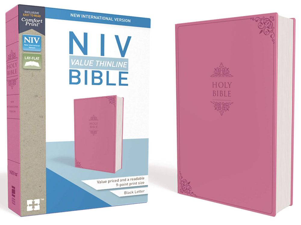 NIV Thinline Bible - Pink