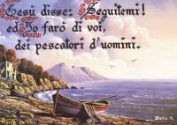 """Cartolina """"Gesù disse: Seguitemi ed io farò di voi dei pescatori d'uomini"""""""