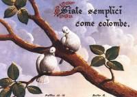 """Cartolina """"Siate semplici come colombe"""""""