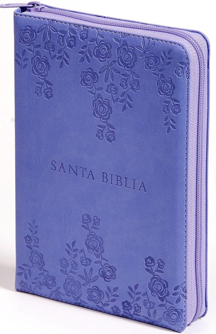 RVR 60 Biblia Letra Grande Morada Rosas