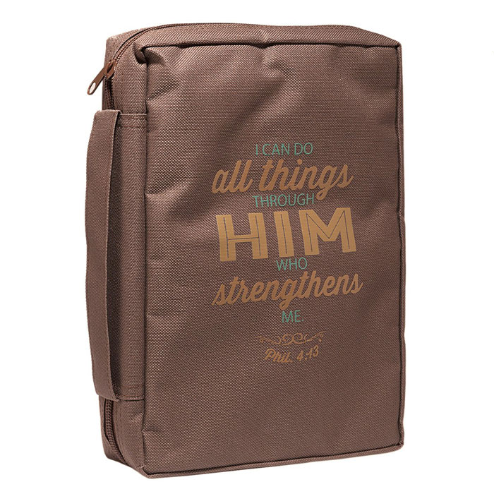 """Copribibbia """"I can do all things"""" - Brown - Medium"""