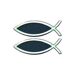 Adesivo Pesce argentato Piccolo - Set da 2