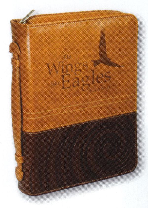 "Copribibbia Grande ""On wings like eagles"" Isaiah 40:31"