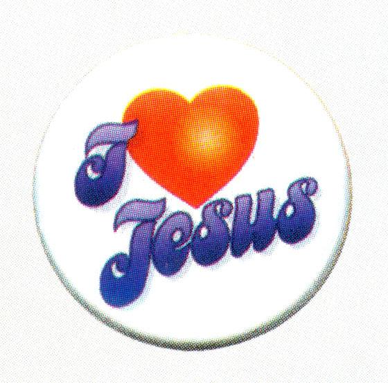 """A129 - Bottone """"I love Jesus"""""""