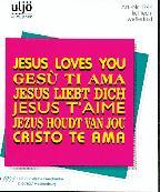 "Adesivo ""Jesus loves you"""