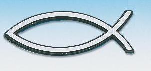 A241 - adesivo Pesce - Colore argentato piccolo