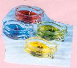 "A410 - Portacandele ""pesce"" in vetro, gel, piccolo"