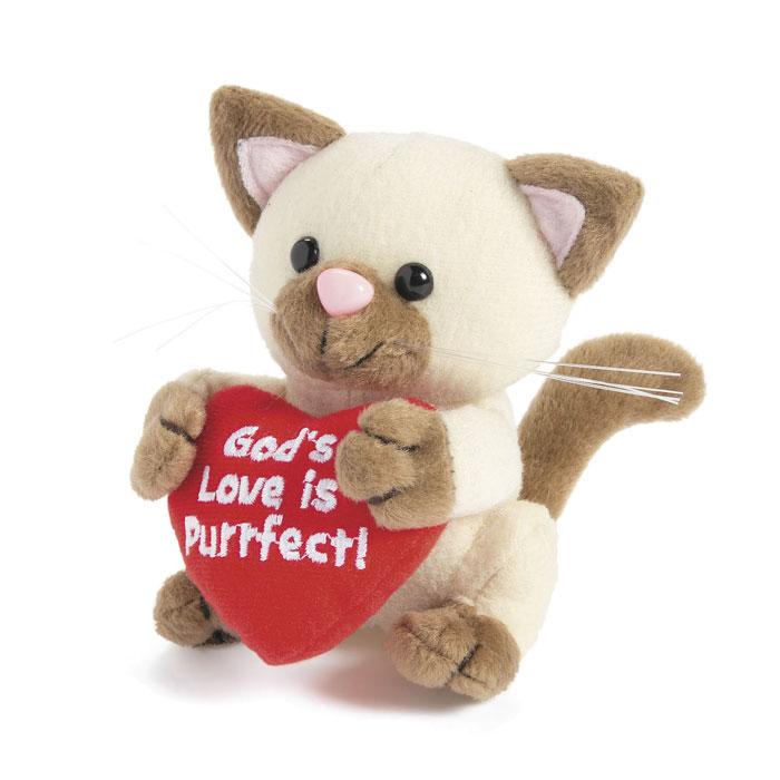 "Pelouche Gattino ""God's love is purrfect!"""