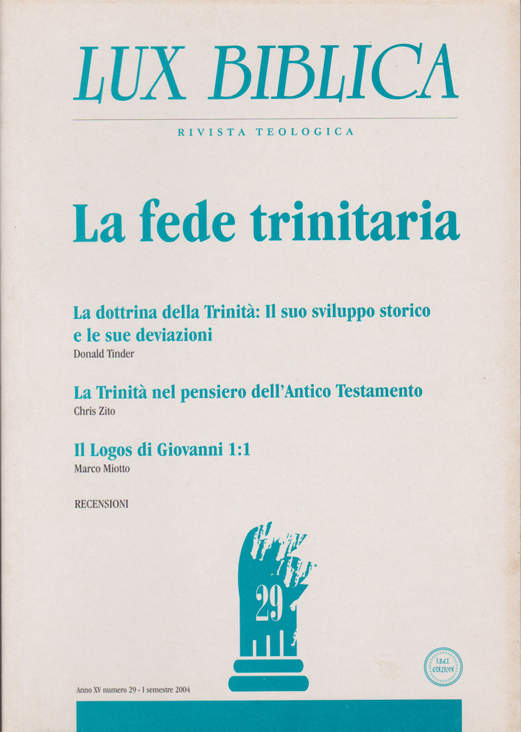 La fede trinitaria - Lux Biblica n° 29