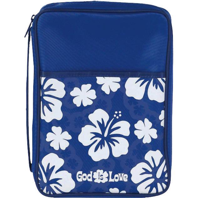 "Copribibbia ""God is Love"" Flowers/Blue - Formato Medio"