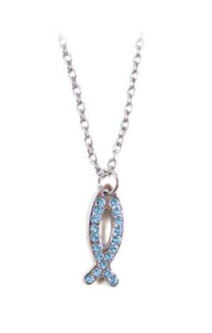 """Collana """"Fish Crystal"""" Azzurra"""