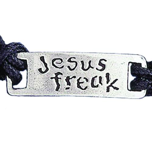 """Braccialetto regolabile """"Jesus freak"""""""