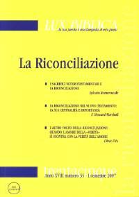 La riconciliazione (Lux Biblica - n° 35)