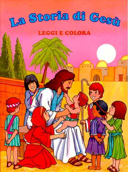 La storia di Gesù - Leggi e colora