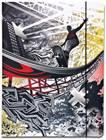 """A1379 - Cartella porta documenti """"Skateboard pesce"""" in cartone"""