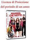"""Licenza di Proiezione del Film """"Mamma che notte"""" della durata di 1 anno e proiezioni illimitate"""