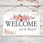 "Quadretto in legno ""Welcome and blessed"""