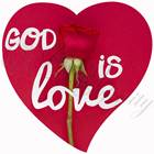 "Quadro ""God is love"" - Cuore (CR0020)"
