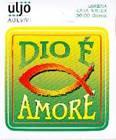 """Adesivo """"Dio è amore"""""""